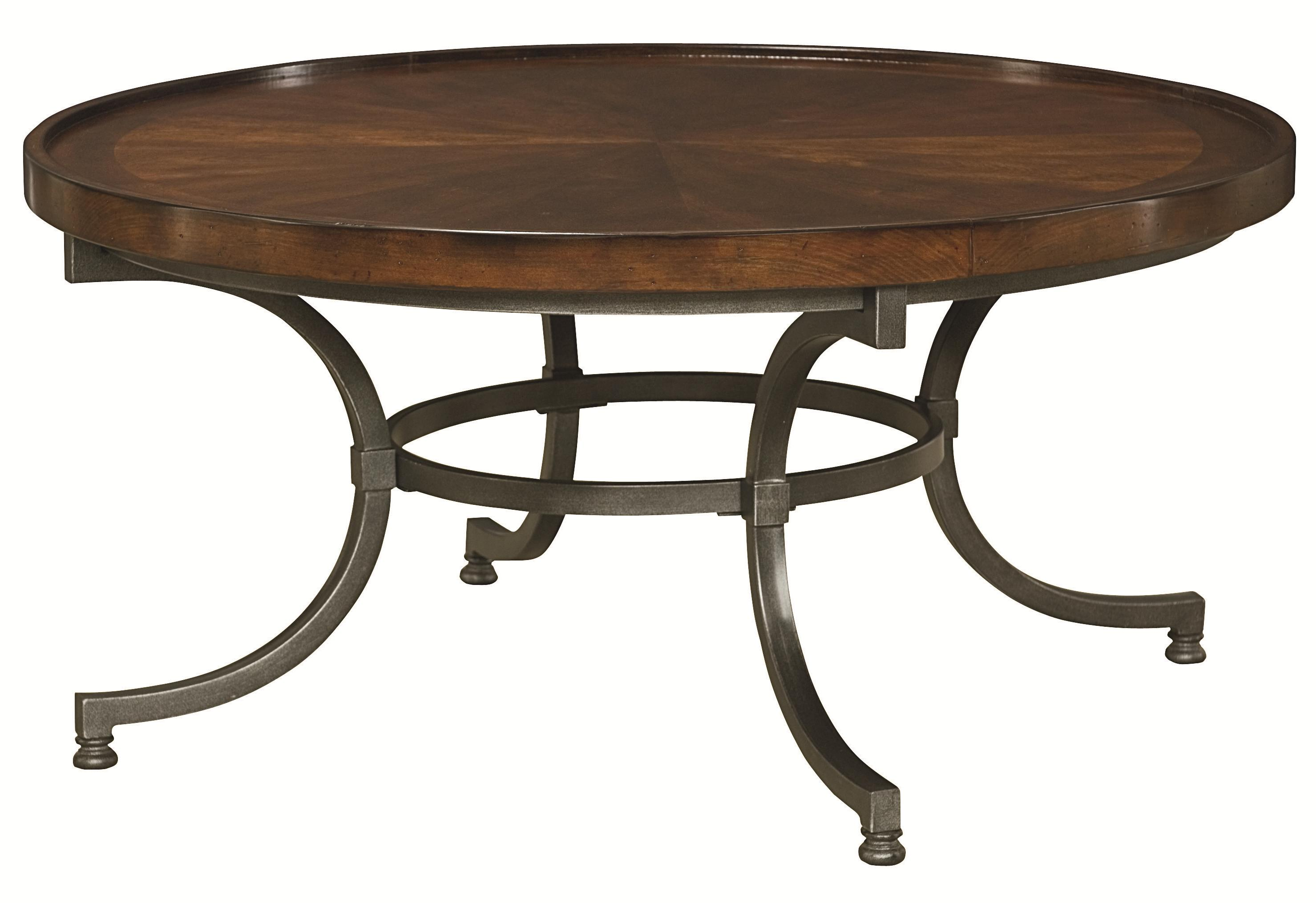 Round Cocktail Table With Metal Legs By Hammary Wolf And Gardiner Wolf Furniture