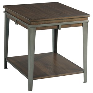 Rectangular End Table with Lower Shelf