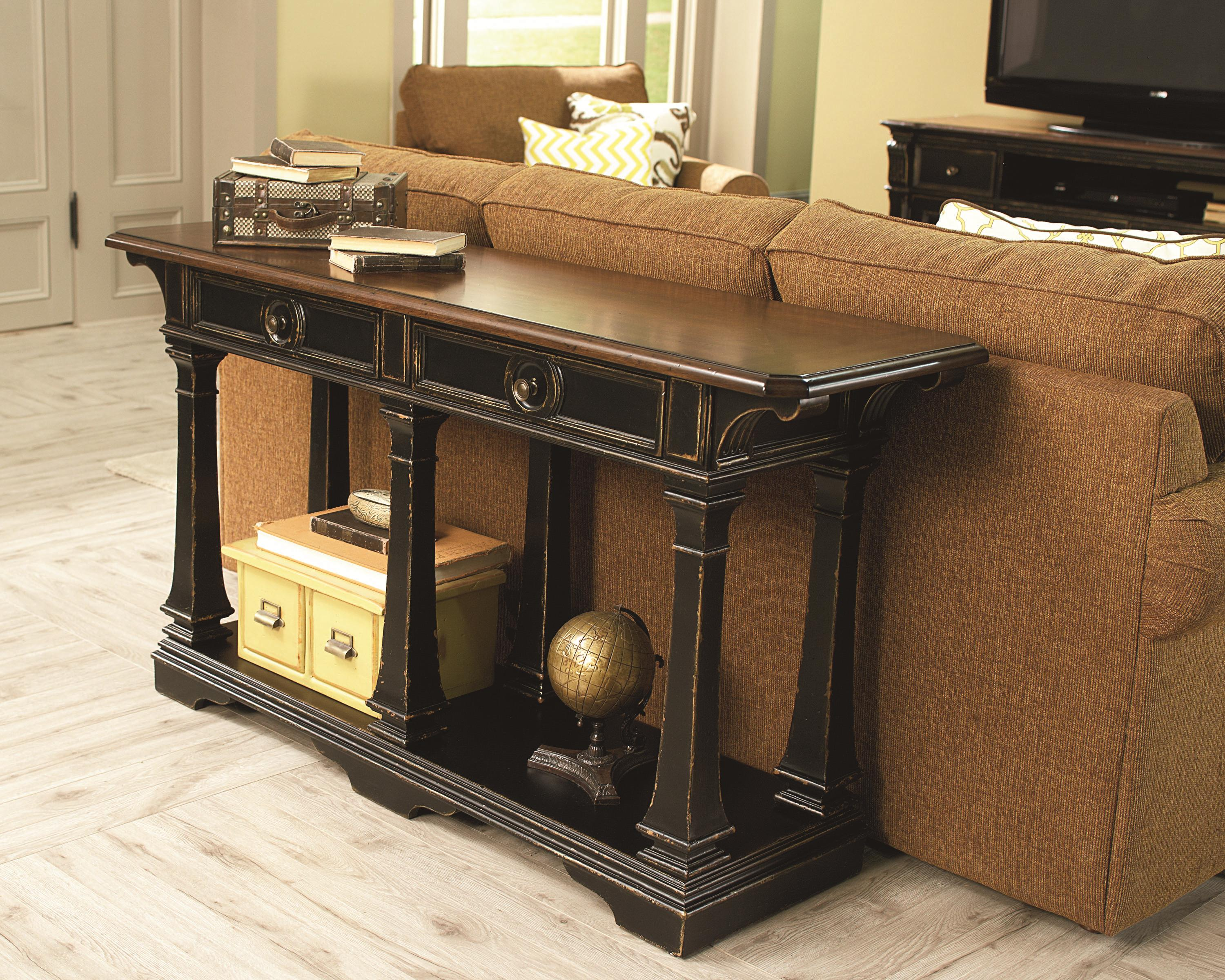 Sofa table with 2 drawers and 1 shelf by hammary wolf and sofa table with 2 drawers and 1 shelf by hammary geotapseo Image collections