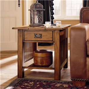 Hammary Canyon Rectangular Drawer End Table