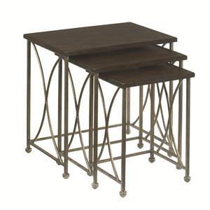 Hammary Hidden Treasures Rustic Nesting Tables