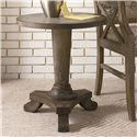 Hammary Hidden Treasures Driftwood Round Pedestal Table