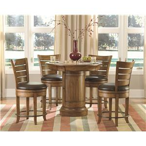 Hammary Hidden Treasures 5 Piece Pub Table Set