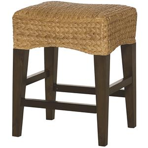 Hammary Hidden Treasures Woven Backless Counter Stool