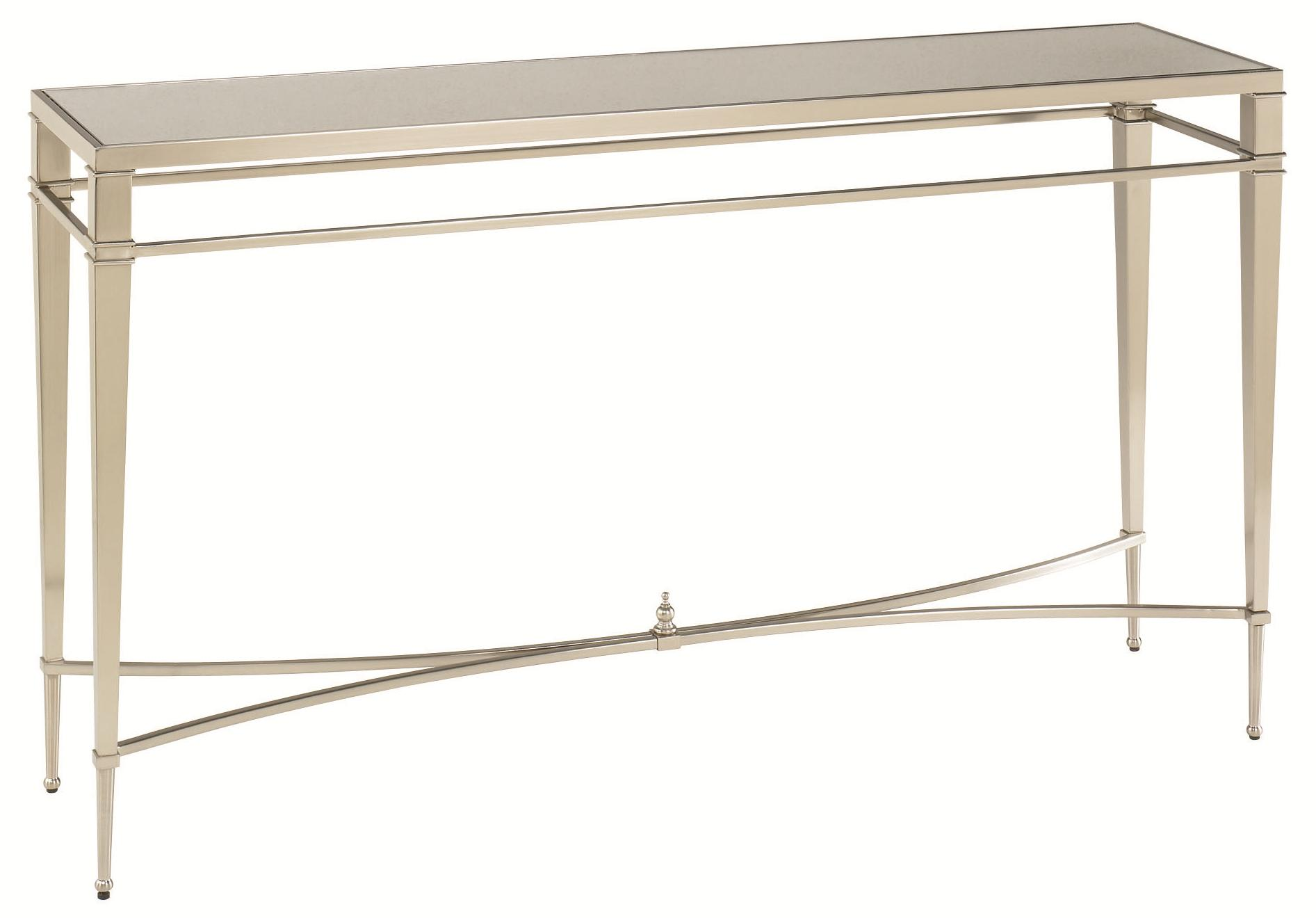Silver Nickel Antique Finish Sofa Table by Hammary