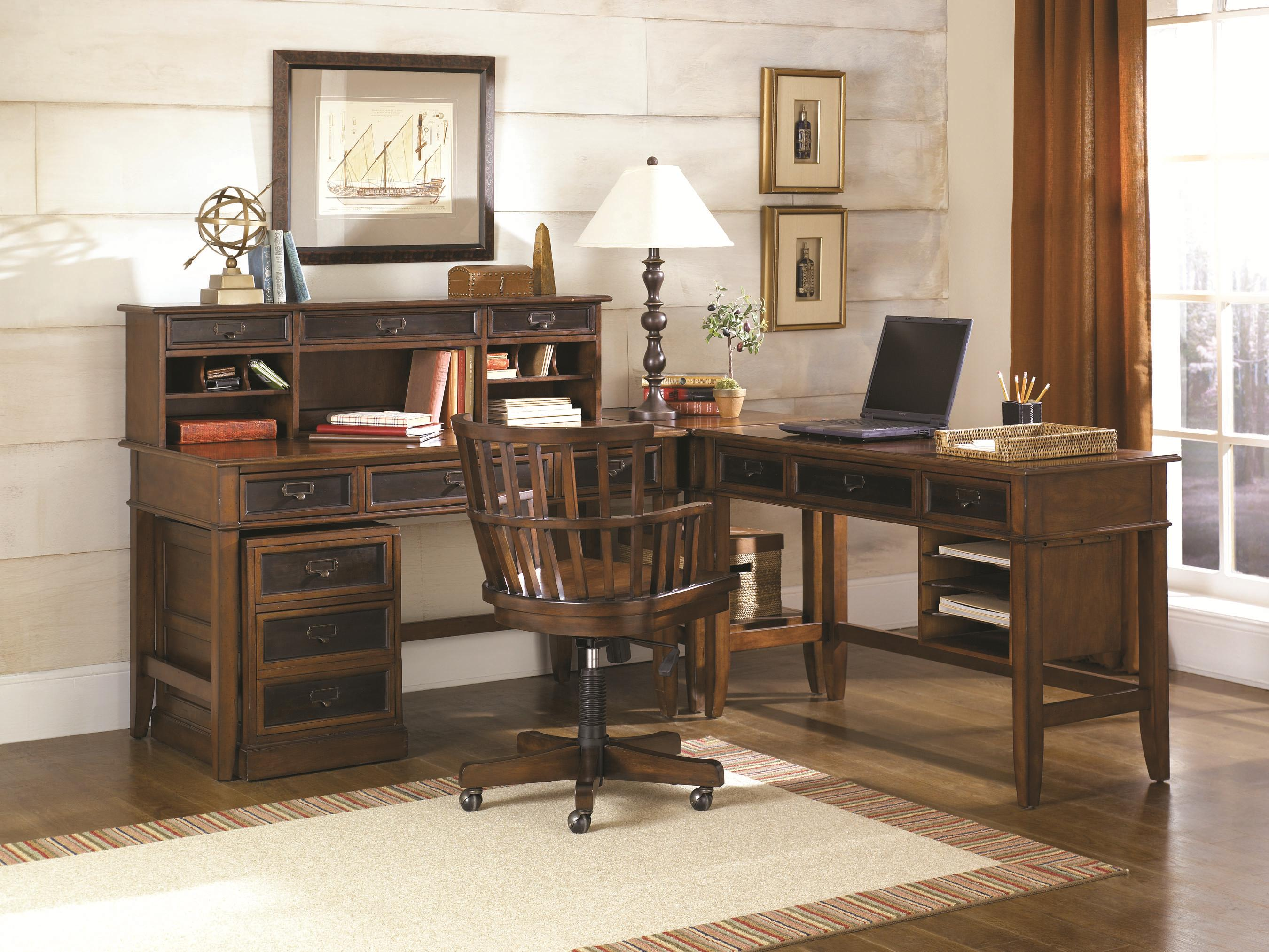 L Shaped Desk And Credenza