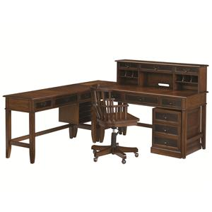 Hammary Mercantile L Shaped Desk and Credenza