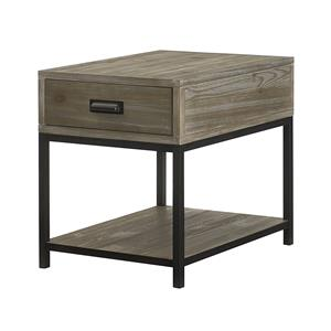 Rectangular Drawer End Table with Shelf
