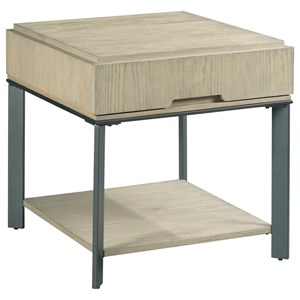 Contemporary Rectangular End Table with Storage Drawer
