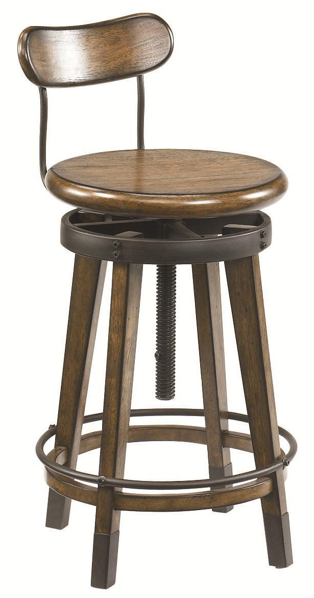 Architect Desk And Adjustable Swivel Stool By Hammary