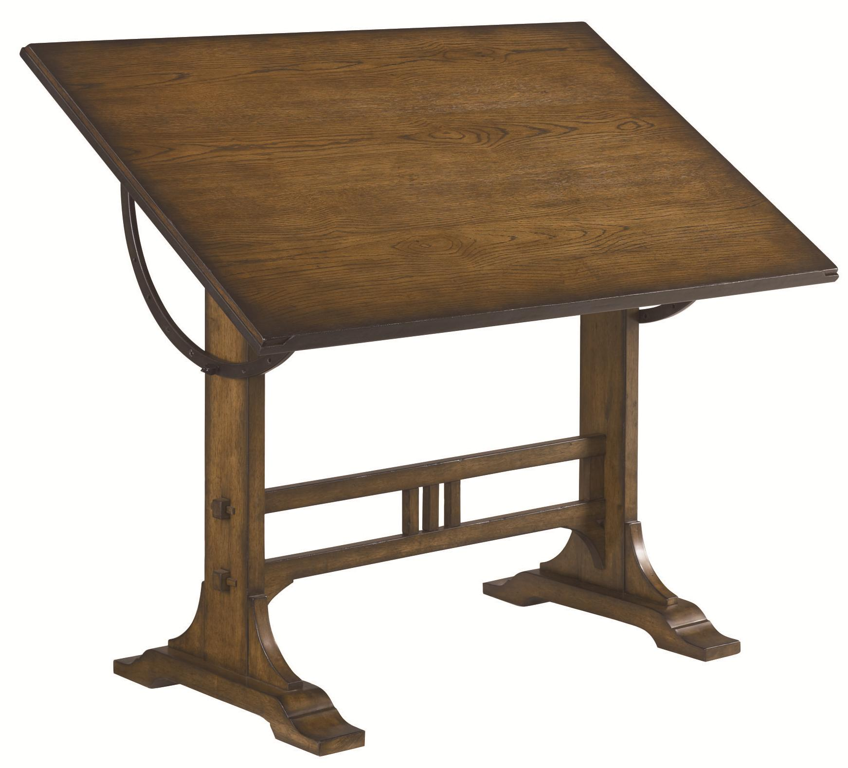 Mission Weathered Oak Architect Desk By Hammary Wolf And Gardiner Wolf Furniture