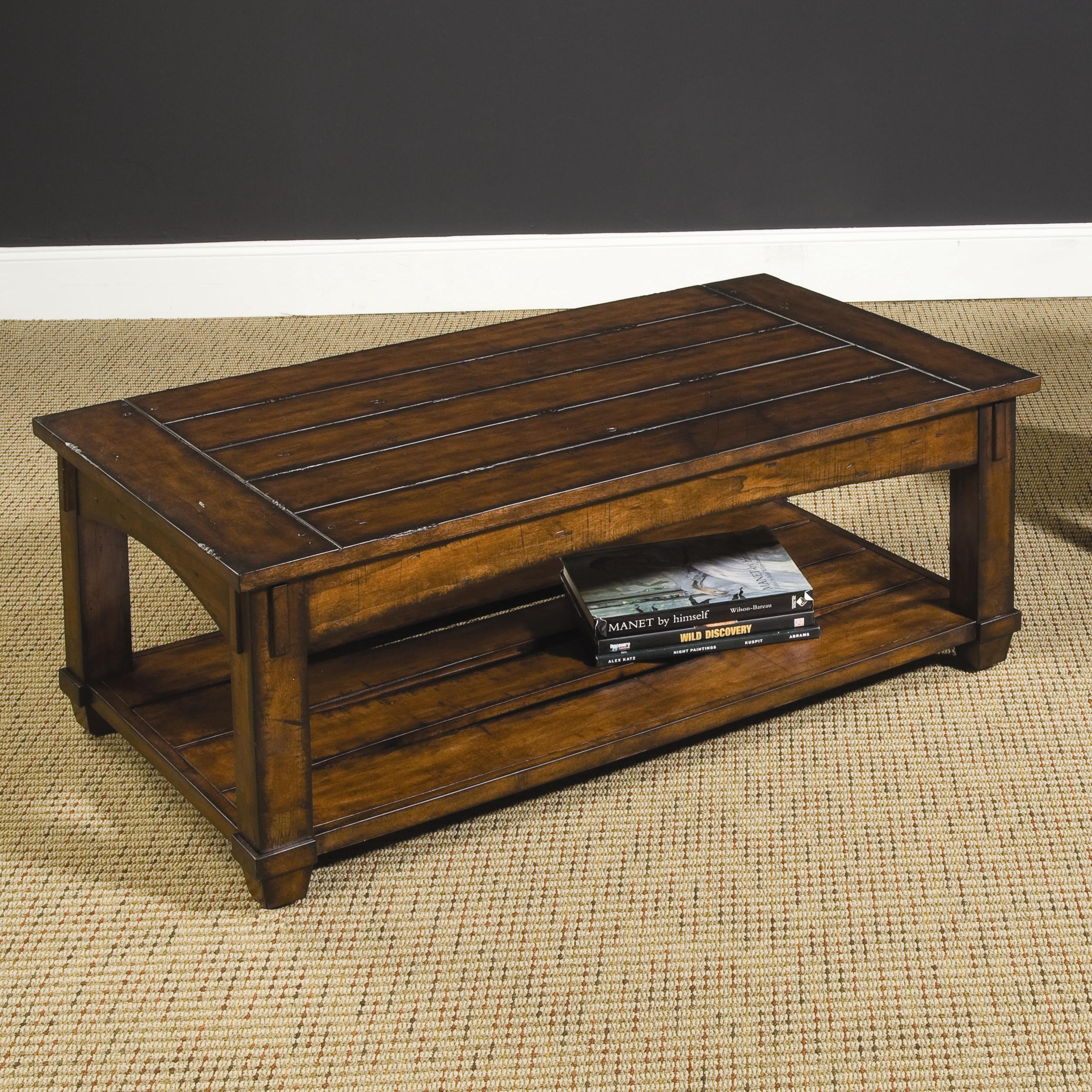 Rectangular Mission Lift Top Cocktail Table By Hammary Wolf And Gardiner Wolf Furniture
