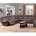 Happy Leather Company 1378 Power Reclining Sectional with Console