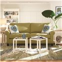 HGTV Home Furniture Collection Greenwich  Casual Styled Greenwich Sofa (two cushions)  - Shown with Coordinating Accent Tables. Sofa Shown May Not Represent Exact Features Indicated.
