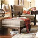 HGTV Home Furniture Collection Upholstery  Woodlands Fret Back Chair with Cabin Home Furniture Style - Shown with Coordinating Collection Ottoman