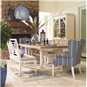HGTV Home Furniture Collection Upholstery  Dining Wing Chair with Traditional Furniture Style and Camel Wing Back - Shown with Matching Table Set From Water's Edge Collection