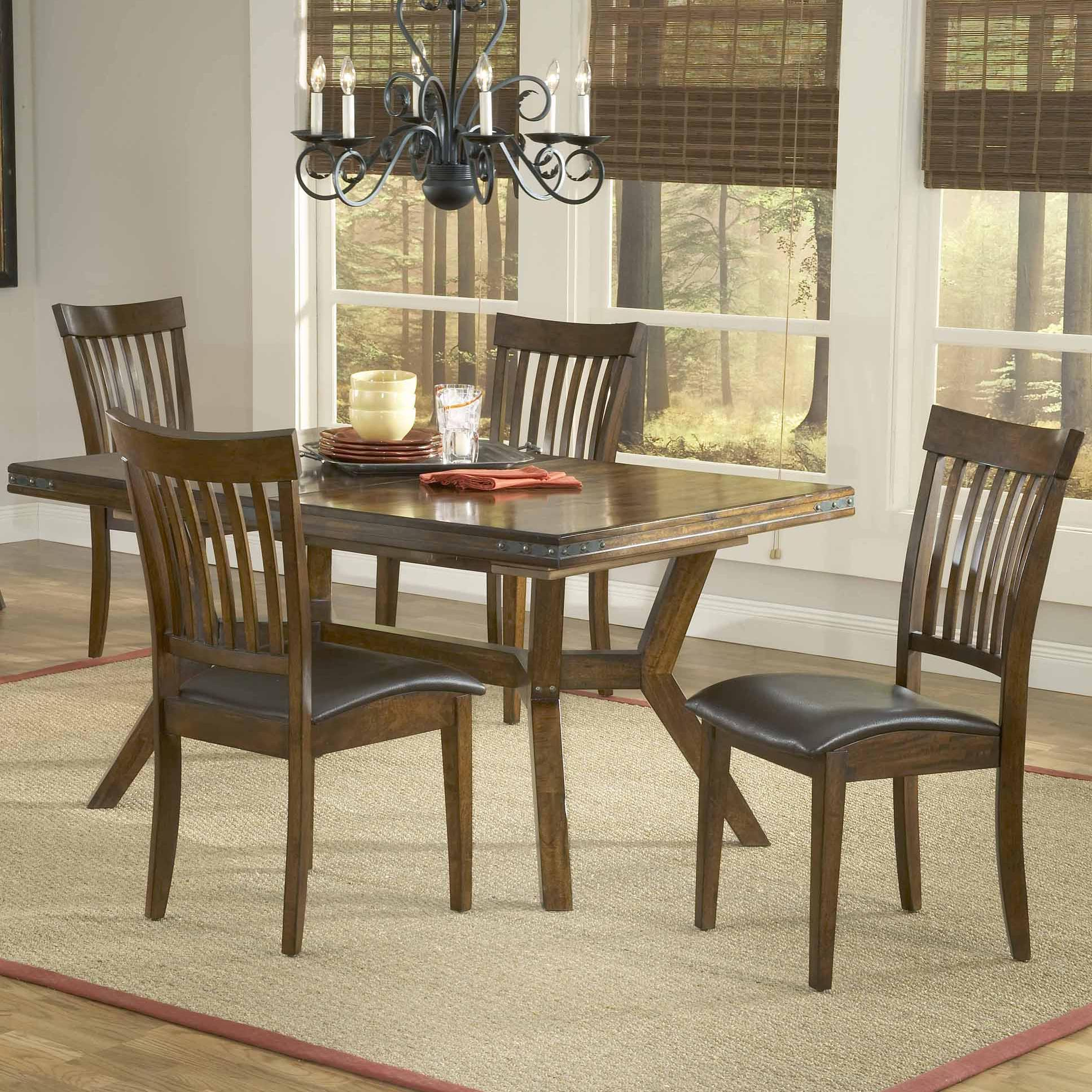 Rectangular Leg Extension Dining Table