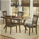 Hillsdale Arbor Hill Rectangular Leg Extension Dining Table - Shown with Coordinating Side Chairs as Five Piece Set