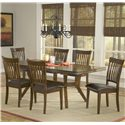 Hillsdale Arbor Hill Rectangular Leg Extension Dining Table - Shown with Coordinating Side Chairs as Seven Piece Set