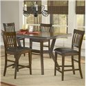 Hillsdale Arbor Hill Gathering Height Table - Shown with Counter Stools as Five Piece Set