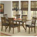 Hillsdale Arbor Hill 7 Piece Rectangular Dining Table Set - Item Number: 4232DTBC7