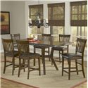 Hillsdale Arbor Hill 7 Piece Counter Height Table Set - Item Number: 4232GTBS7