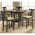Hillsdale Arcadia Counter Height Stool with Beige Seat - Shown with Coordinating Gathering Height Table