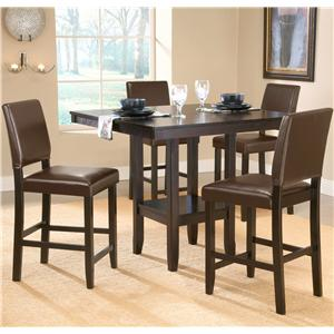 Hillsdale Arcadia 5 Piece Counter Height Table Set
