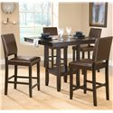 Hillsdale Arcadia 5 Piece Counter Height Table Set - Item Number: 4180DTBSPG