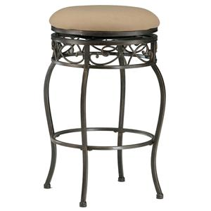"Hillsdale Backless Bar Stools 26"" Backless Lincoln Swivel Counter Stool"