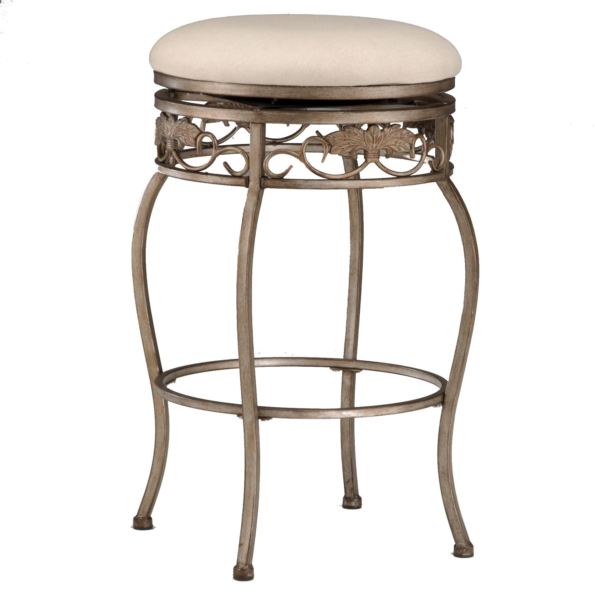 "30"" Backless Bordeaux Swivel Bar Stool"