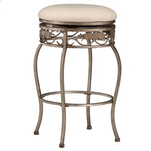 "Hillsdale Backless Bar Stools 26"" Backless Bordeaux Swivel Counter Stool"