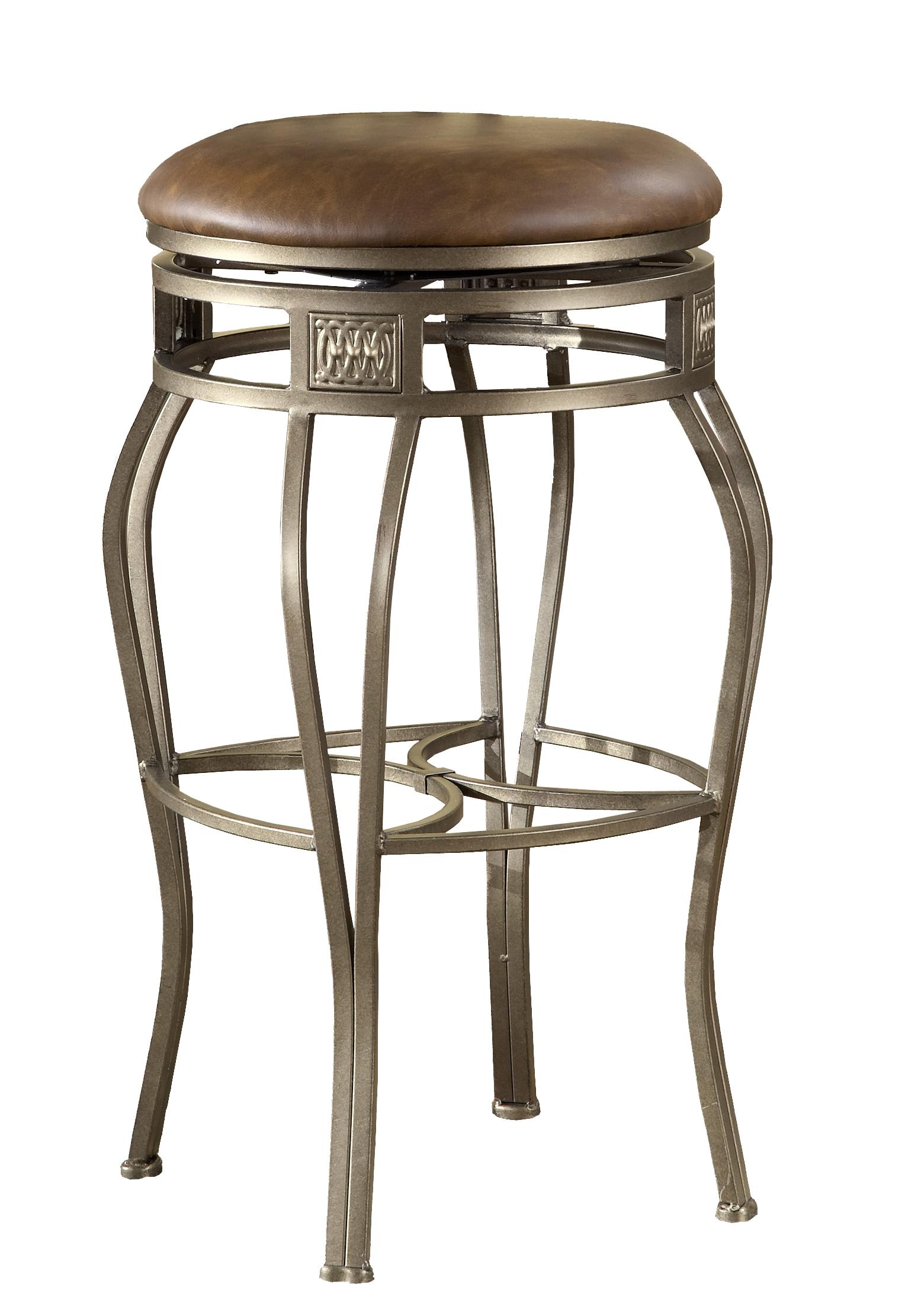 26 Backless Montello Swivel Counter Stool By Hillsdale Wolf And