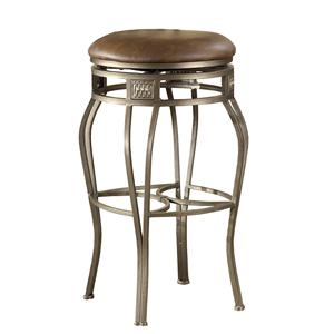 "Hillsdale Backless Bar Stools 30"" Backless Montello Swivel Bar Stool"
