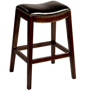 "Hillsdale Backless Bar Stools 30"" Sorella Saddle Bar Stool"