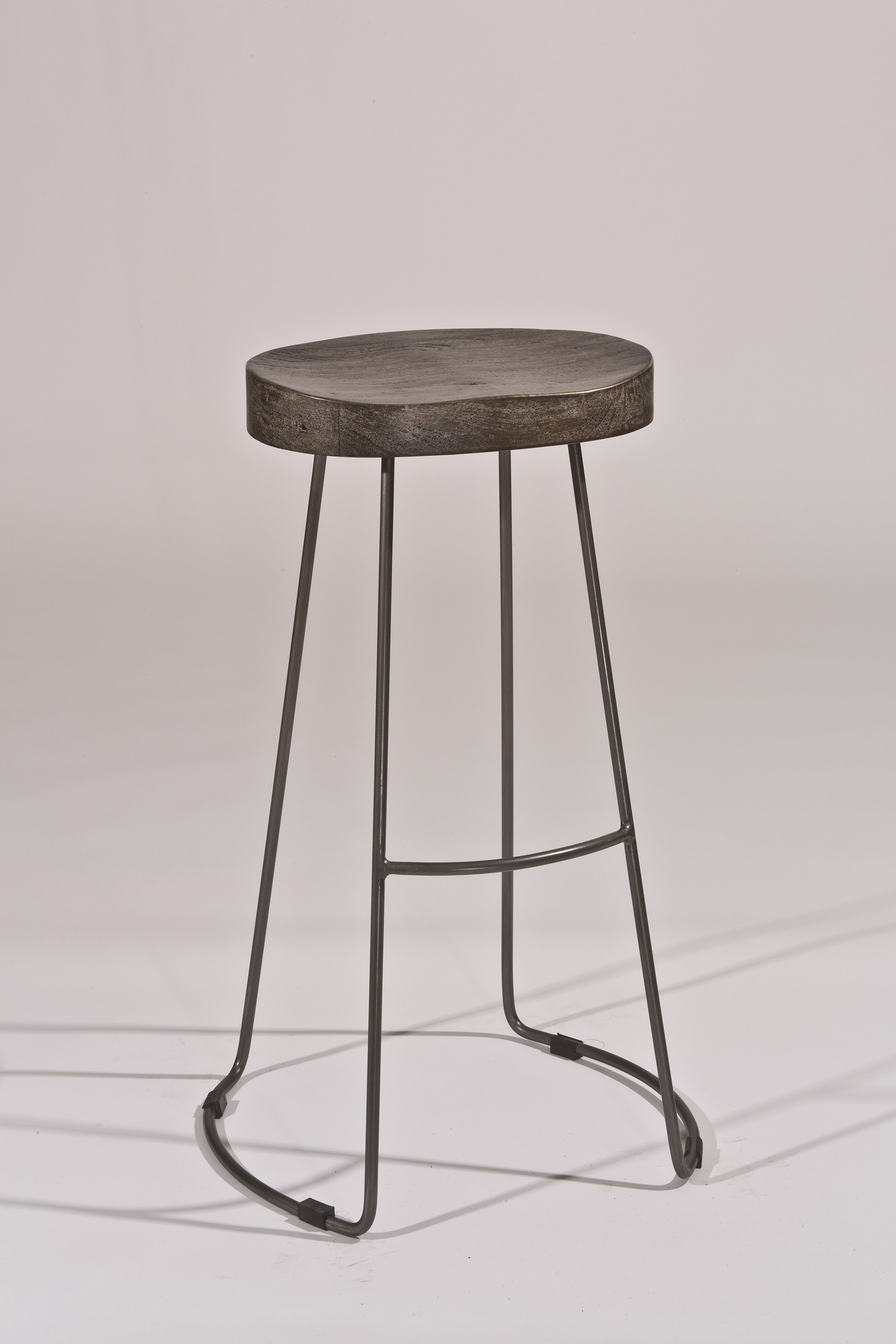 Minimalist Tractor Non Swivel Counter Stool By Hillsdale