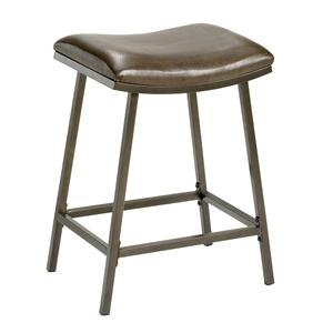 Hillsdale Backless Bar Stools Saddle Counter/Barstool with Nested Leg