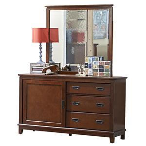 Hillsdale Bailey Mission Oak 3 Drawer Dresser & Mirror