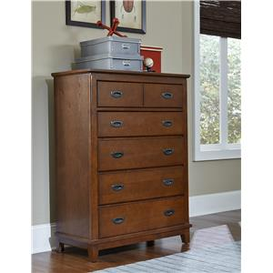 Hillsdale Bailey Mission Oak 6 Drawer Chest