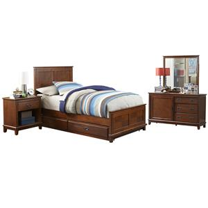 Hillsdale Bailey Mission Oak 4 Piece Twin Bedroom Group with Trundle