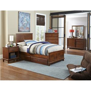 Hillsdale Bailey Mission Oak 5 Piece Twin Bedroom Group with Trundle