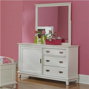 Hillsdale Bailey White 3 Drawer Dresser & Mirror