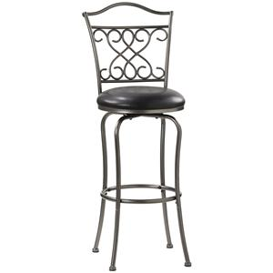 "Hillsdale Metal Stools 24"" Counter Height Wayland Swivel Stool"