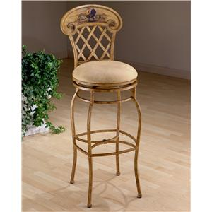 "Hillsdale Metal Stools 26.5"" Counter Height Rooster Swivel Stool"