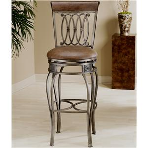 "Hillsdale Metal Stools 32"" Bar Height Montello Swivel Stool"