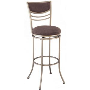 "Hillsdale Metal Stools 24"" Counter Height Amherst Swivel Stool"