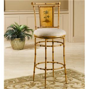 "Hillsdale Metal Stools 30"" Bar Height West Palm Swivel Stool"