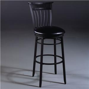 "Hillsdale Metal Stools 30"" Bar Height Cottage Swivel Stool"