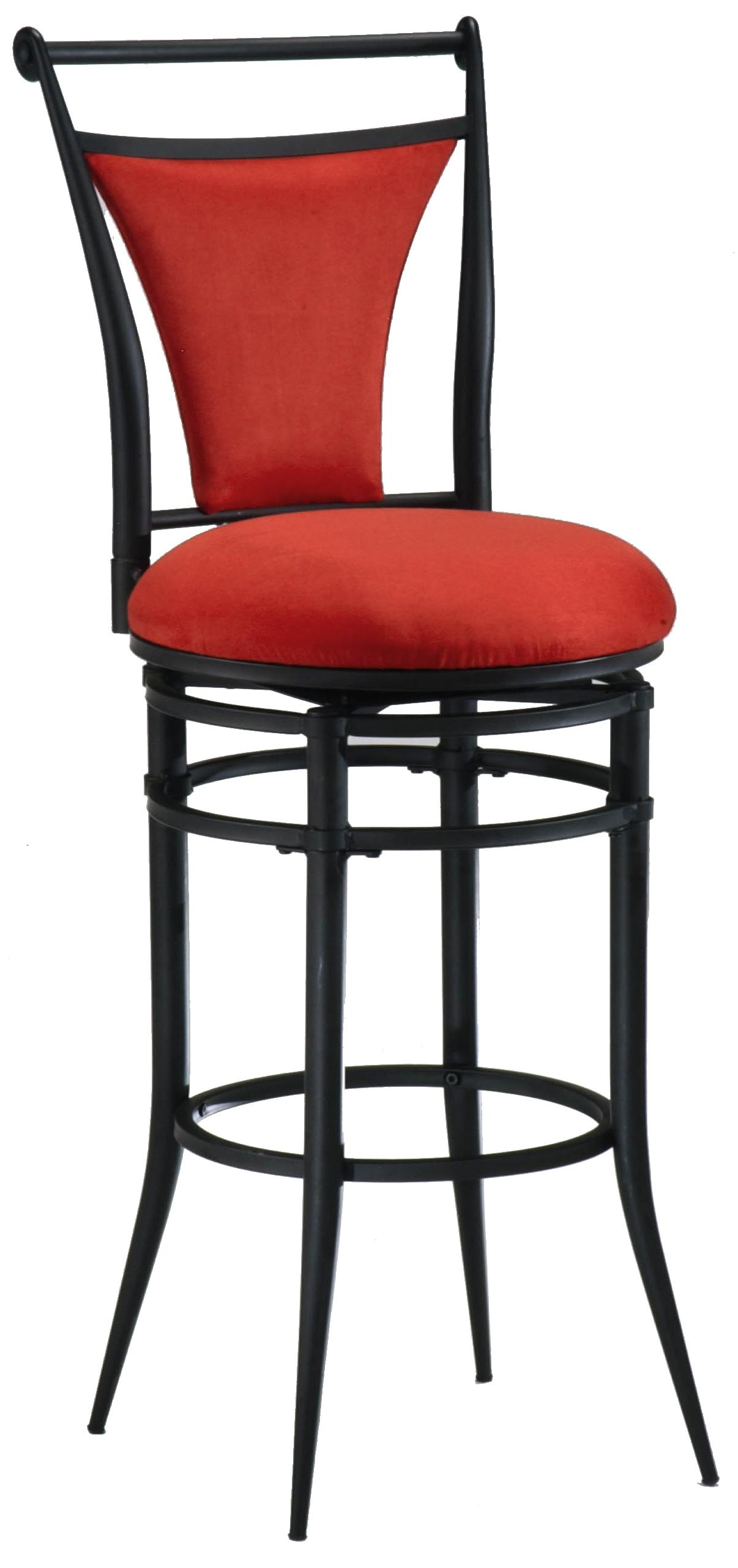 30 Bar Height Flame Cierra Stool By Hillsdale Wolf And Gardiner Wolf Furniture