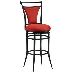 "Hillsdale Metal Stools 30"" Bar Height Flame Cierra Stool"